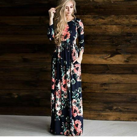 fd9f5de032 topcobe - Women s Boho Floral Print Long Maxi Dresses