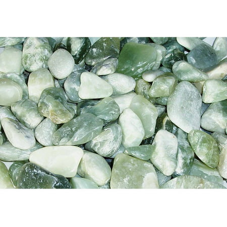 - Exotic Pebbles & Aggregates Jade Polished Pebbles, 5 lb