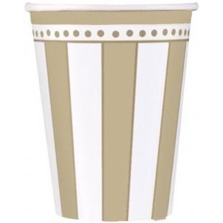 50th Anniversary 'Golden Wishes' 9oz Paper Cups (8ct)