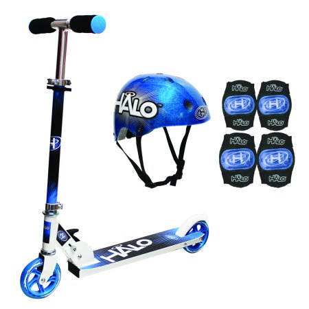 Blue Connect A Scooters - HALO PREMIUM SCOOTER COMBO SET - BLUE