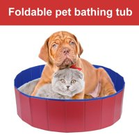 Anauto Dogs Bathing Tub,Pet Bathing Tub,Foldable Pet Dogs Cats Bathing Tub Portable Swimming Pool Home Indoor Outdoor