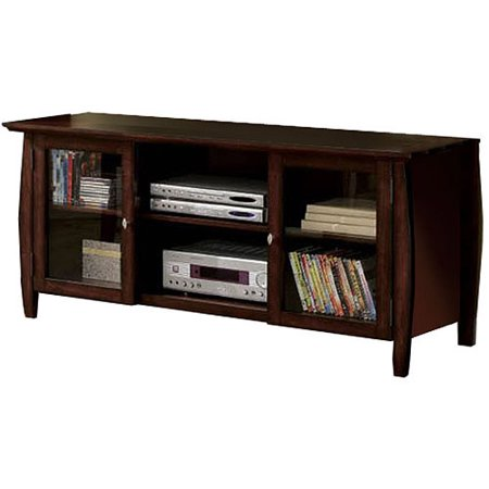 Venetian Rochelle Brown Cherry TV Console for TVs up to 60  The Venetian Rochelle TV Console With Storage offers a sleek and stylish decor piece combined with a sturdy and reliable storage and support option. This brown cherry TV console is intended to support and display TVs of up to 60 , and features rear access ports for easy wire connections. Four storage drawers provide this 60 inch TV console with ample storage space for a variety of items, such as DVDs or TV accessories.