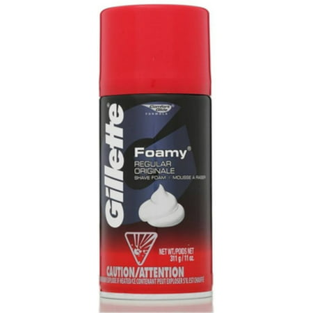 Gillette Foamy Shave Foam Regular 11 oz (Pack of