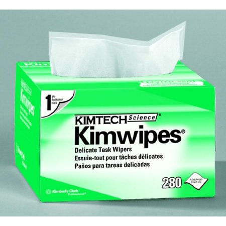 - Task Wipe Light Duty Kimtech Science Kimwipes Disposable 4.4 X 8.4 Inch - Box of 280 - 4 Pack