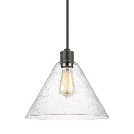 "Sea Gull Lighting 6220301 Elsa Single Light 12"" Wide Pendant"