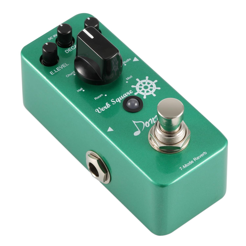 Donner Digital Reverb Guitar Effect Pedal Verb Square 7 Modes by Donner