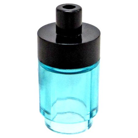 LEGO Water Bottle with Black Lid [Trans-Blue] [No Packaging] (Personalized Lego Water Bottle)