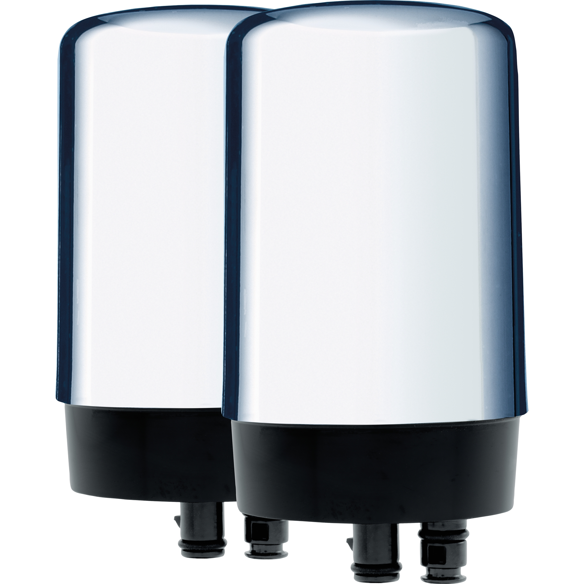 Brita Tap Water Filtration System Replacement Filters For Faucets - Chrome - 2 Count
