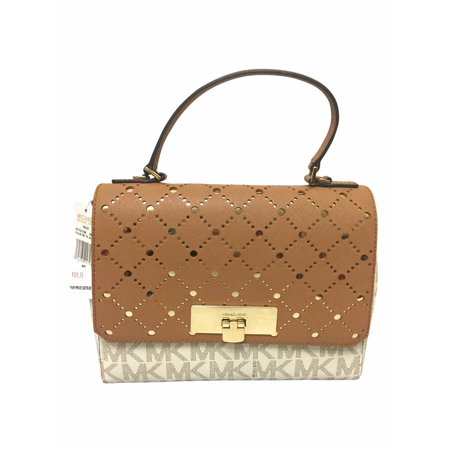 2dfdc7e5b1b0 Michael Kors Violet Callie Vanilla/Pale Gold MD Satchel Bag 35T7GV1S2B -  Walmart.com