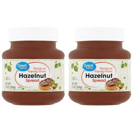 (2 Pack) Great Value Hazelnut Spread, 13 oz (Nutella Brownie)