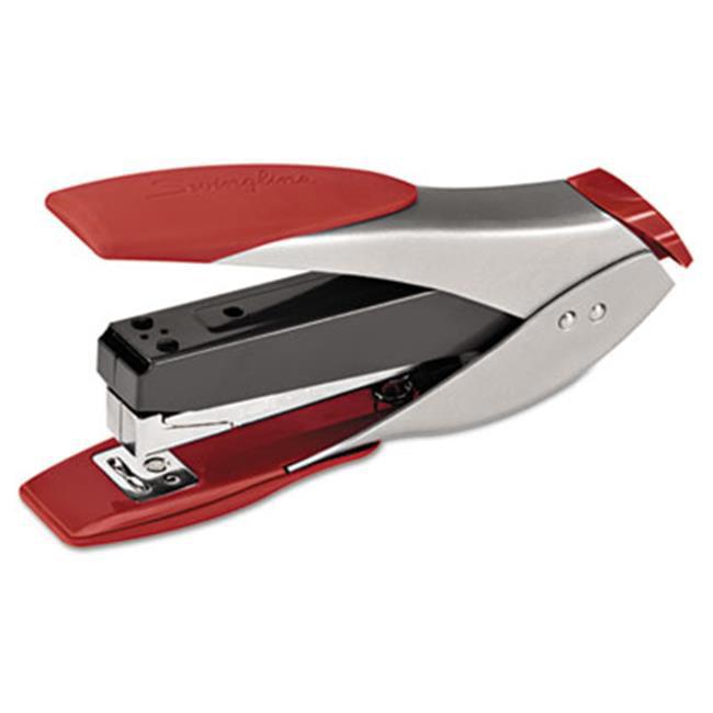 SmartTouch Full Strip Stapler, 25 sheet capacity, Silver-Red