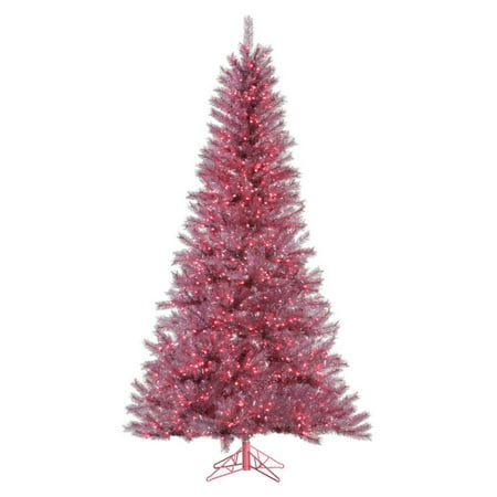 Orchid Christmas Tree.Vickerman Orchid Pink Tinsel Pre Lit Christmas Tree