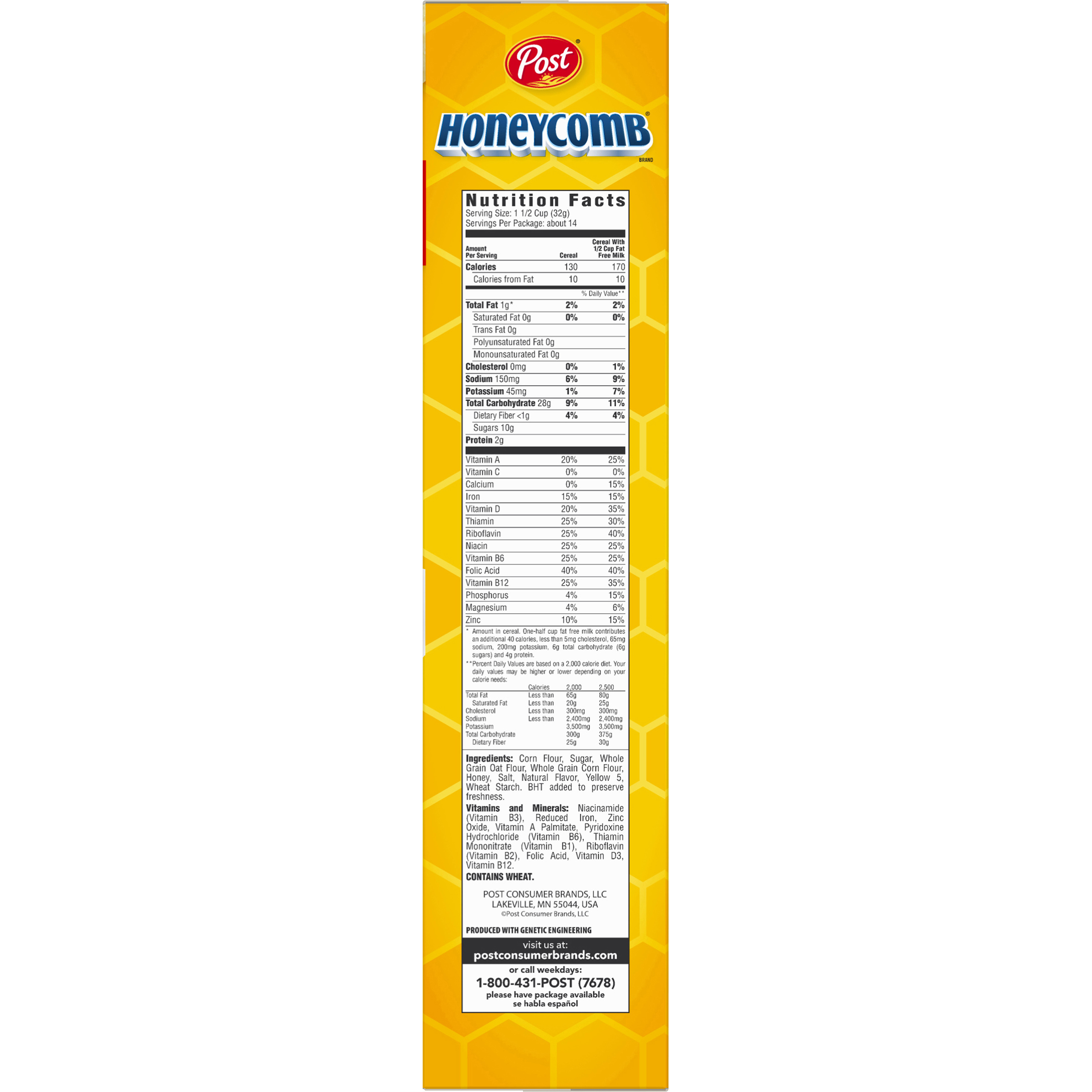 Honeycomb Cereal Nutrition Information