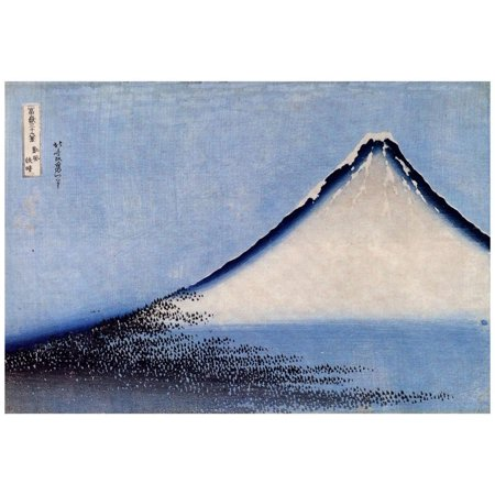Katsushika Hokusai Mount Fuji 2 Art Poster Print Print Wall Art