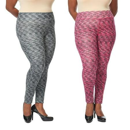 63c1aef954b Womens Plus Size Active Wear Yoga Pants Space Dye Short Workout ...