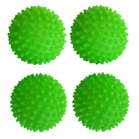 Set of 4 Black Duck Brand Green - Reusable Dryer Balls Replace Laundry Drying Fabric Softener and Saves You Money!