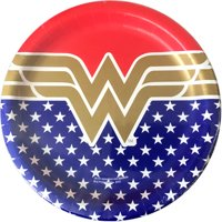 "9"" Wonder Woman Paper Dinner Plates, 8-Count"