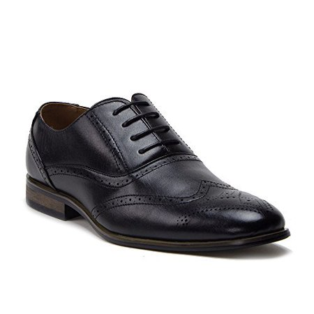 Perforated Wing Tip - New Men's 95203 Leather Lined Perforated Wing Tip Dress Oxfords Shoes