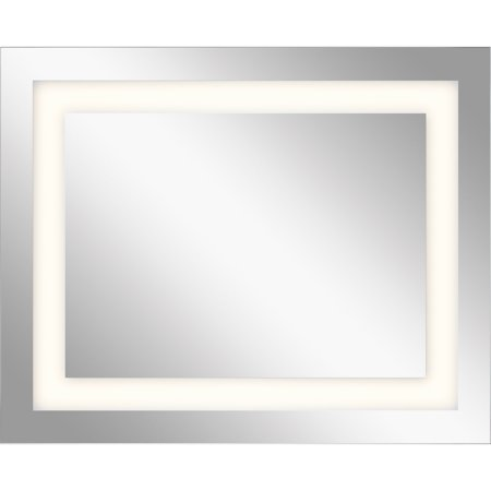 Mirrors With Clear White Finish Steel Drum Material LED Frosted Edge Glass Bulbs 30 (Glass Edge Finishes)