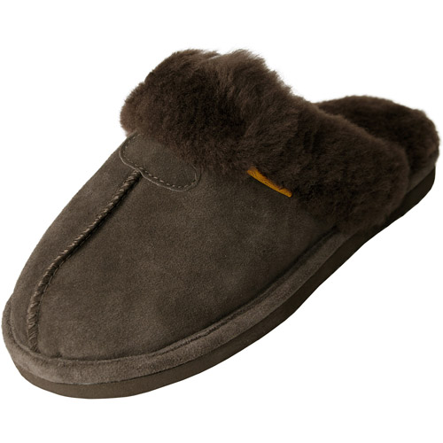 Brinley Co Womens Backless Sheepskin Slipper