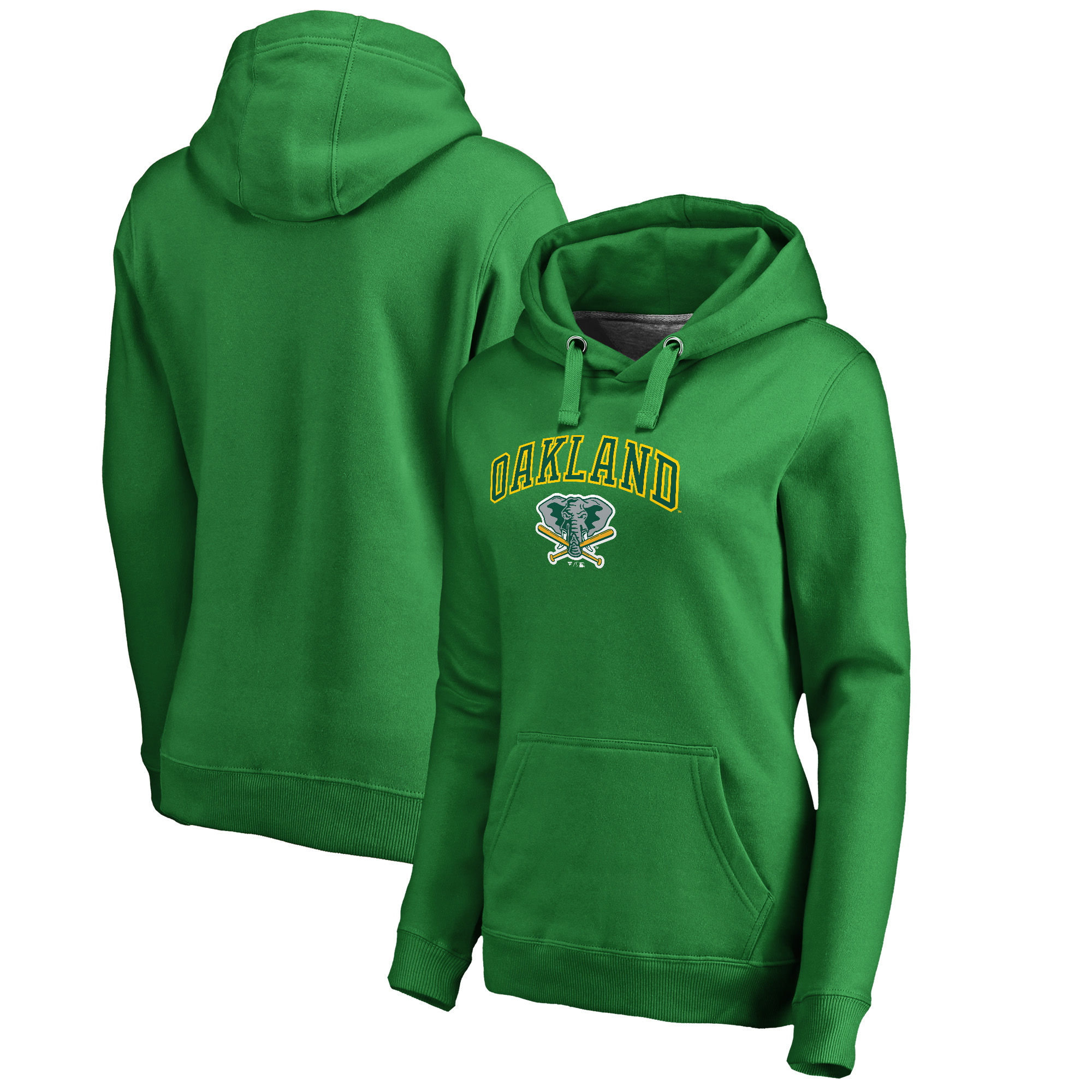 Oakland Athletics Fanatics Branded Women's Cooperstown Collection Wahconah Pullover Hoodie - Kelly Green