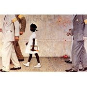 The Problem We All Live With (or Walking to School--Schoolgirl with U.S. Marshals) African American Civil Rights Print Wall Art By Norman Rockwell