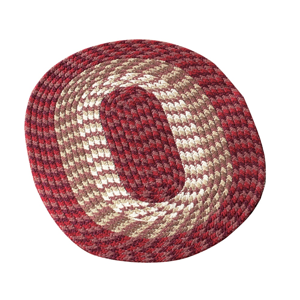 """Versatile Alpine Braided Accent Rug with 3-Tone Coloring for Any Room, 30""""X50"""", Chocolate"""