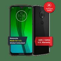 Moto G7  Unlocked Smartphone  64 GB  Ceramic Black (US Warranty) - V