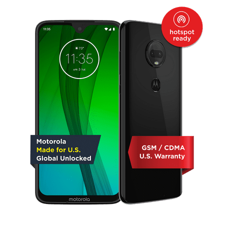 Moto G7 – Unlocked Smartphone – 64 GB – Ceramic Black (US Warranty) - V