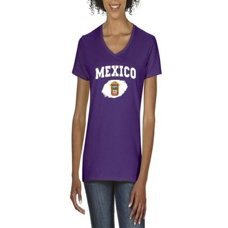 b9410bece Normal is Boring - Mexico State of Mexico Women s V-Neck T-Shirt Tee ...