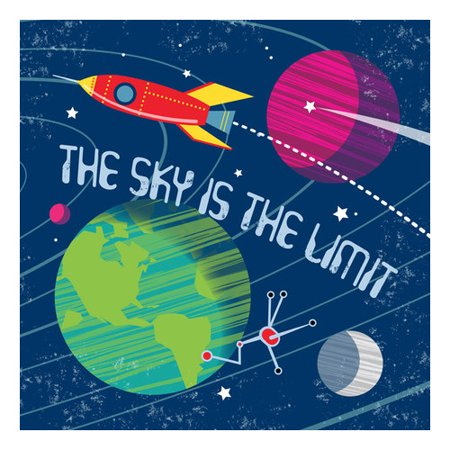 Oopsy Daisy The Sky is the Limit Canvas Art