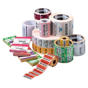 Zebra Label Paper 2 x 1in Direct Thermal Zebra Z-Perform 2000D 1 in core - 2