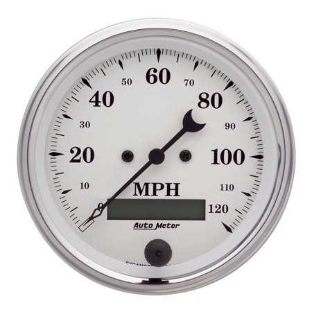 Autometer 1680 Old Tyme White Electric Programmable Speedometer