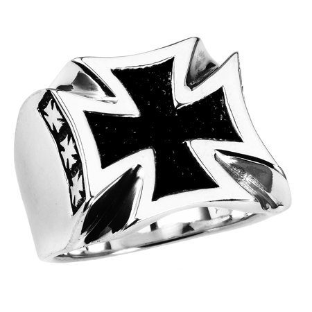 Stainless Steel Iron Cross Ring (Available in Sizes 10 to 14) size 14