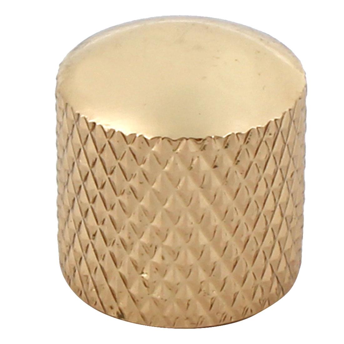 Electric Guitar Volume Tone Control Knob Top Hat Cylinder Shape Gold Tone
