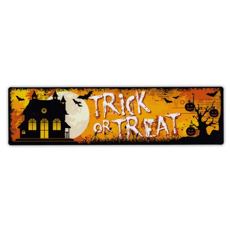 Magnetic Bumper Sticker - Trick or Treat Strip Magnet - Great For Halloween - 10.75