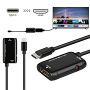 TSV USB C to HDMI Cable, 4K  3840x2160 @30Hz Type-C to HDMI Converter Adapter Cord Connect with Projector/Laptop/PC/HDTV, [Plug & Play] Mini USB-C to HDMI Cable with 7 inch Long, LED Indicator