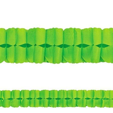 Kiwi Lime Green Paper Garland (12ft)