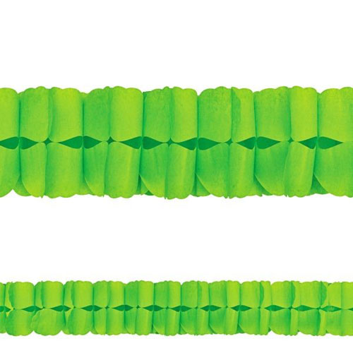 Kiwi Lime Green Paper Garland (12ft)