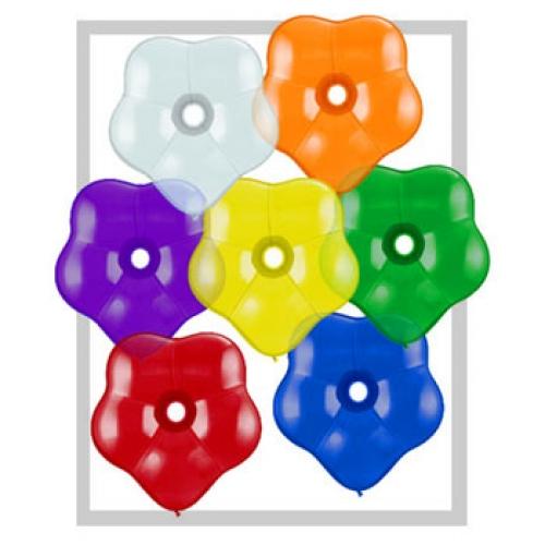 6 inch Blossom (Geo) Balloon Jewel Tone Assortment 100/bag
