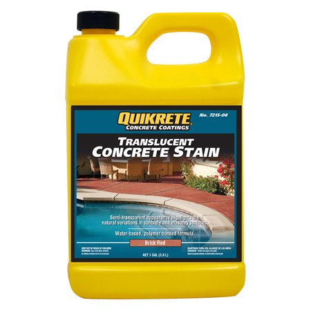 Quikrete Translucent Concrete Stain Brick Red gal