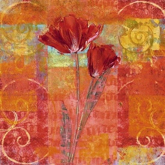 Red Tulips II Poster Print by Yvonne Dulac (20 x 20)
