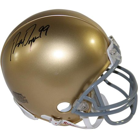 Steiner Sports DAYNMIS000000 Ron Dayne Signed Gold College Footballs Best Mini Helmet with 99