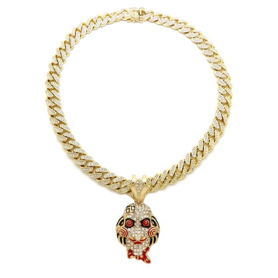 "69 Chain Jigsaw: Hip Hop Fashion 6ix9ine 69 JigSaw W/ 18"" Gold"