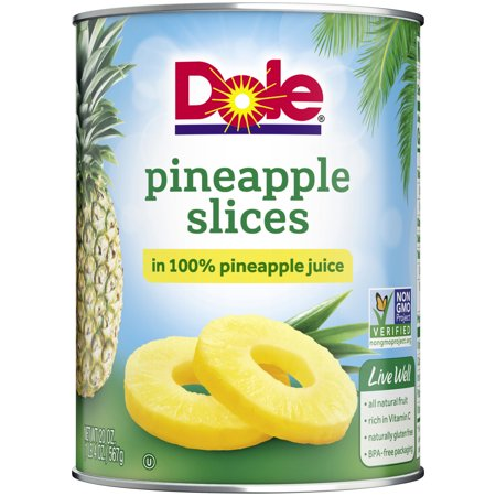 - (3 Pack) Dole Pineapple Slices in 100% Pineapple Juice 20 oz. Can