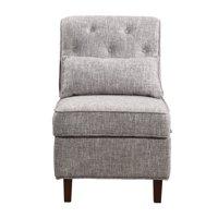 Storage Accent Chair, Gray White
