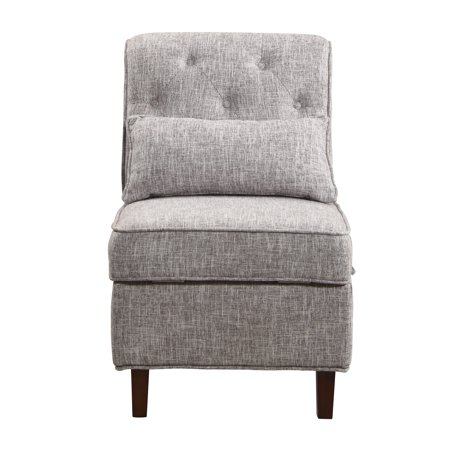 Storage Accent Chair, Gray White ()