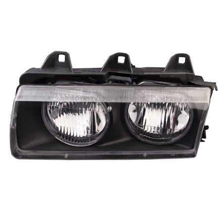 1992-1999 BMW 318i/318is/1995-1999 318ti/1998-1999 323i-323is/1992-1995 325i-325is/1996-1999 328i-328is Driver Side Headlight Left Halogen Headlamp Assembly BM2502101