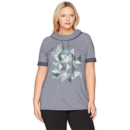 Active French Terry Graphic Cowl Painted Kaleidoscope - LLA, 5XL - image 1 de 1
