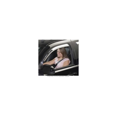 Putco 480125 Window Visor For Dodge Charger, Chrome In-Channel Mount Type